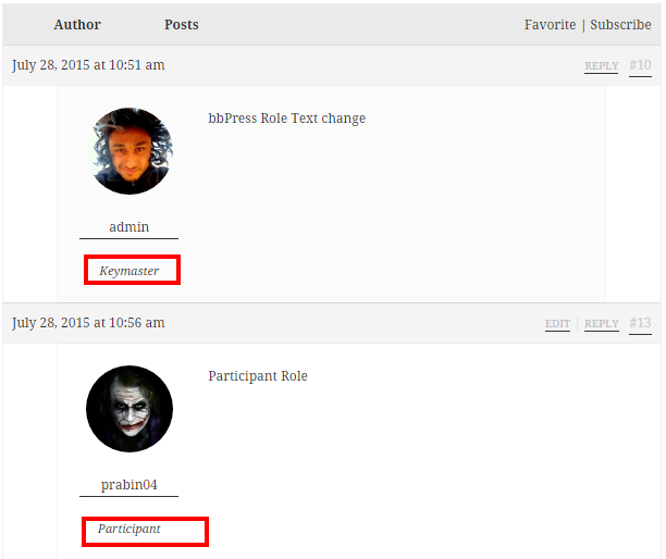 Change the default Role Name in WordPress