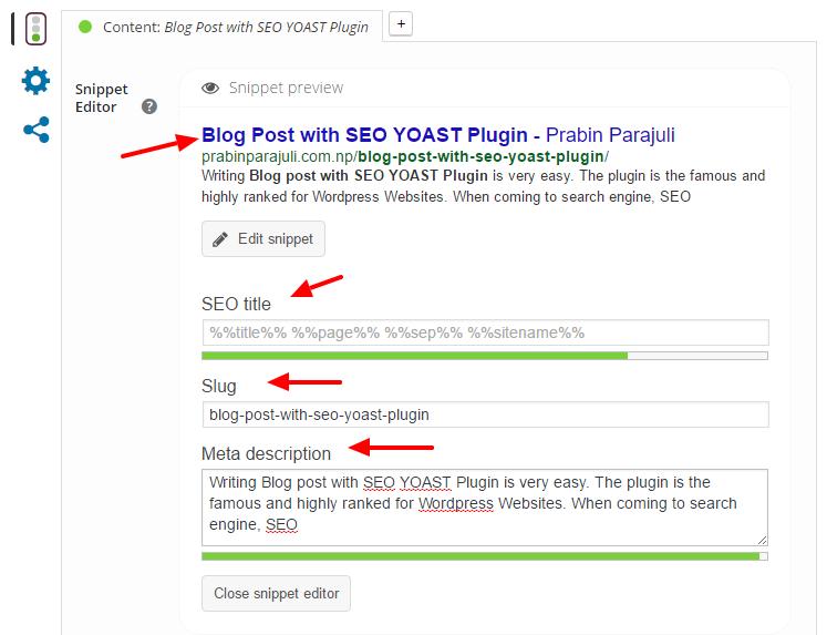Blog Post with SEO YOAST Plugin