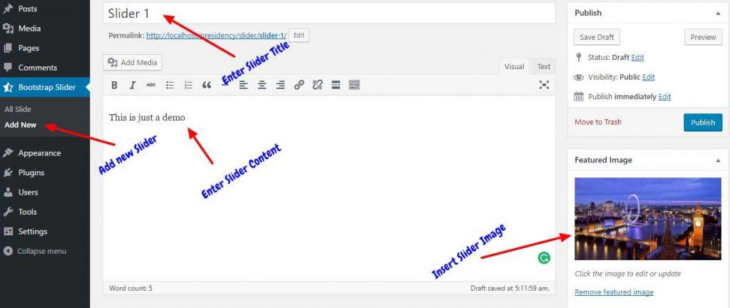 Bootstrap Carousel in WordPress